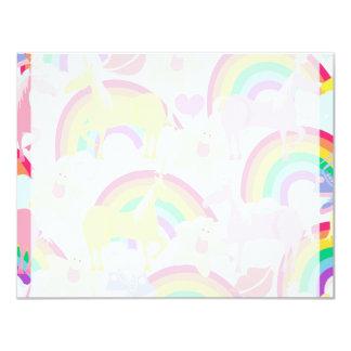 More Unicorns and Rainbows 4.25x5.5 Paper Invitation Card