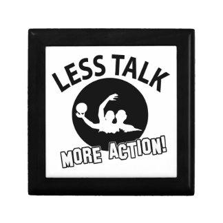More Volleyball action less talk Keepsake Box