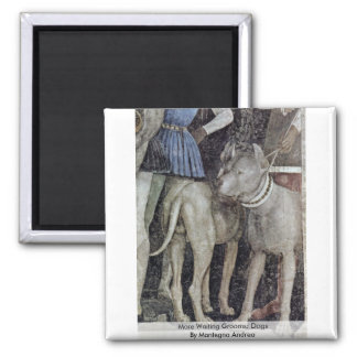More Waiting Grooms: Dogs By Mantegna Andrea Refrigerator Magnet