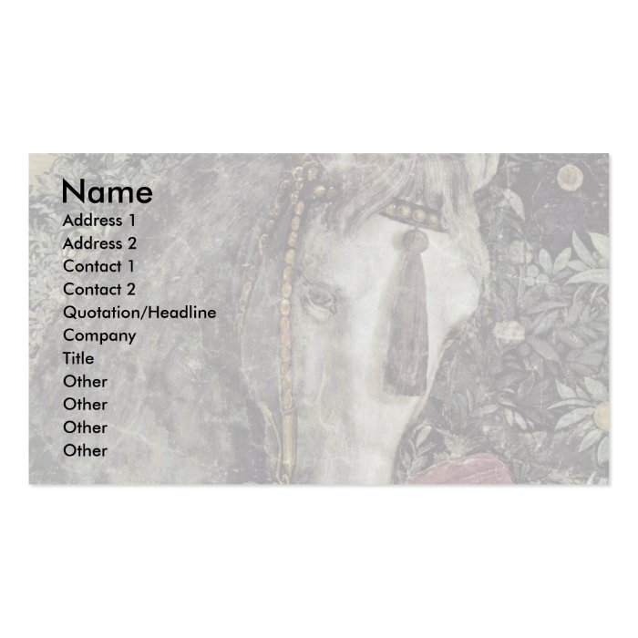 More Waiting Grooms: Horse By Mantegna Andrea Pack Of Standard Business Cards