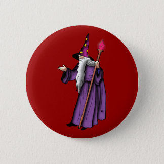 more zauberer wizard 6 cm round badge