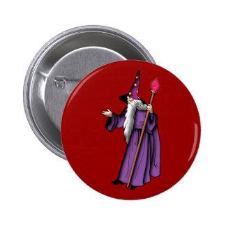 more zauberer wizard 6 cm round badge