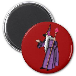 more zauberer wizard 6 cm round magnet