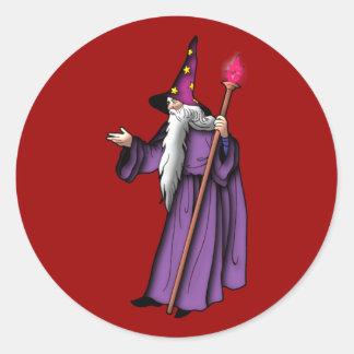 more zauberer wizard classic round sticker