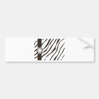 more zebramuster with edging bumper sticker
