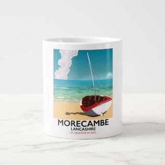 Morecambe, Lancashire Seaside travel poster Large Coffee Mug