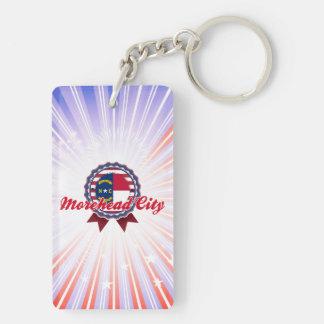 Morehead City, NC Double-Sided Rectangular Acrylic Keychain