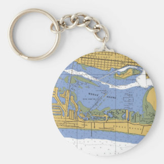 Morehead City, NC Navigation Harbor Chart Keychain