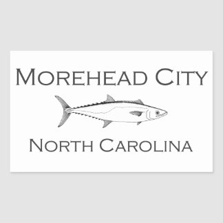 Morehead City North Carolina Saltwater Fishing Rectangular Sticker