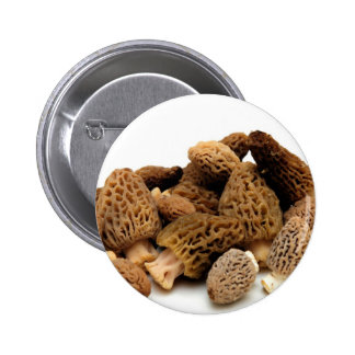 Morel Mushroom 6 Cm Round Badge
