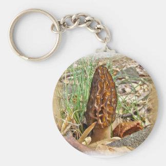 Morel Mushroom Key Ring