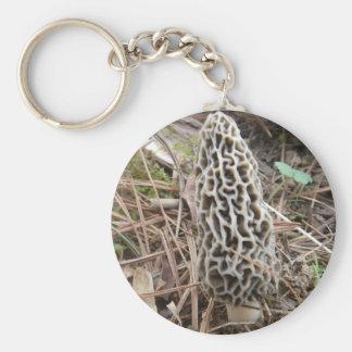 Morel Mushroom Keychain