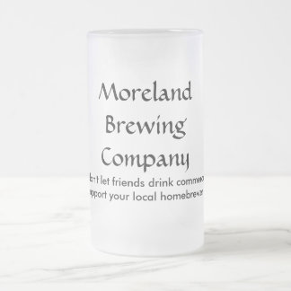 Moreland Brewing Company Frosted Glass Mug