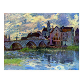 Moret-sur-Loing by Alfred Sisley Postcard