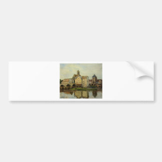 Moret sur Loing, Morning by Alfred Sisley Bumper Sticker