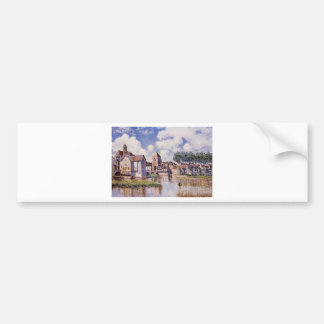 Moret sur Loing the Porte de Bourgogne by Alfred Bumper Sticker