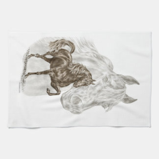 Morgan Horse Art Tea Towel