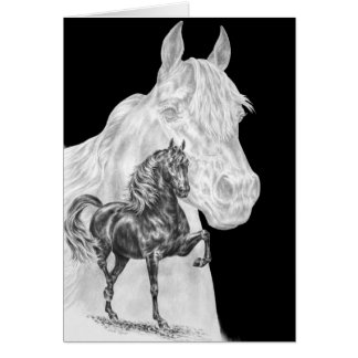 Morgan Horse Spirit Drawing by Kelli Swan Card