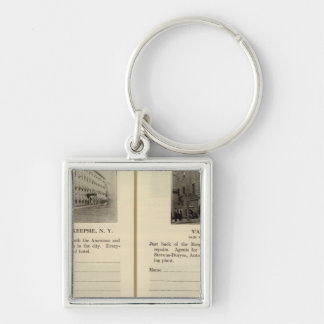 Morgan House, Van's Garage, Poughkeepsie Silver-Colored Square Key Ring