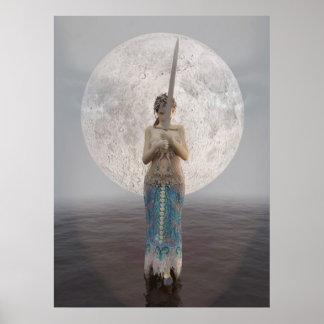 Morgan le Fay and Excalibur Poster