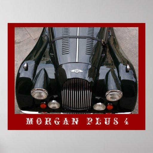 Morgan Plus 4 - Classic Car Poster