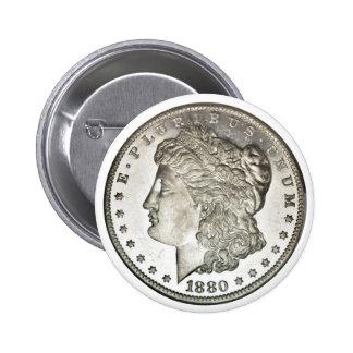 Morgan Silver Dollar Button