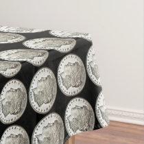 Morgan Silver Dollar Coin Show Tablecloth