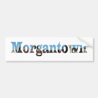 Morgantown Skyline Word Cutout Bumper Stickers