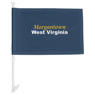 Morgantown, West Virginia Car Flag