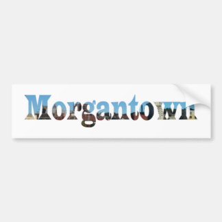 Morgantown WV Skyline Word Cutout Bumper Stickers