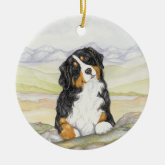 Moritz on rocks christmas ornament