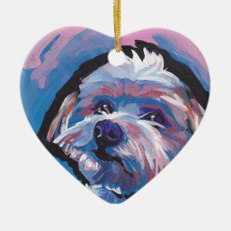 morkie designer breed pop dog art christmas ornament