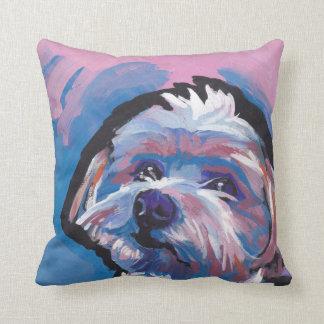 morkie designer breed pop dog art cushion
