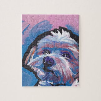 morkie designer breed pop dog art jigsaw puzzle