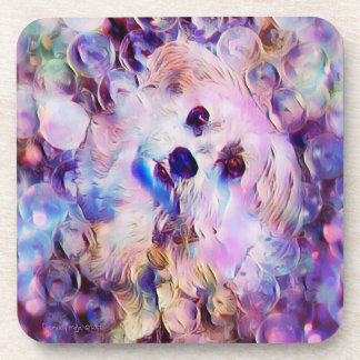 Morkie Dog Puppy Bubbles Fantasy Coaster