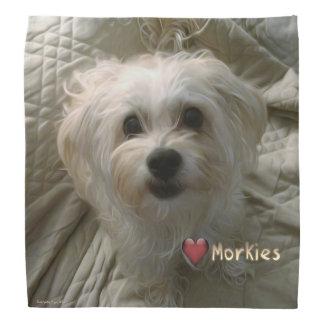 Morkie Puppy Dog Love Cute Bandana