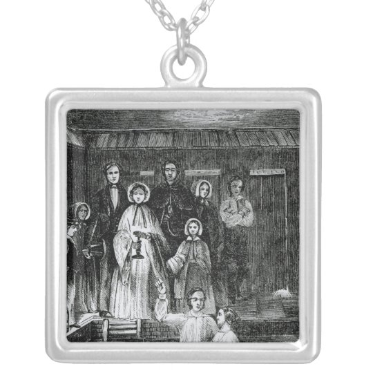 Mormon Baptism Silver Plated Necklace