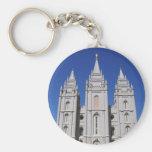Mormon (LDS) Temple  in Salt Lake City, Utah Keychain