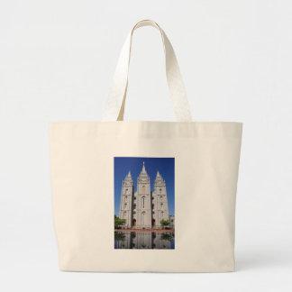 Mormon (LDS) Temple  in Salt Lake City, Utah Large Tote Bag