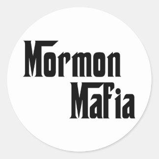 Mormon Mafia Classic Round Sticker
