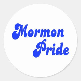 Mormon Pride Classic Round Sticker