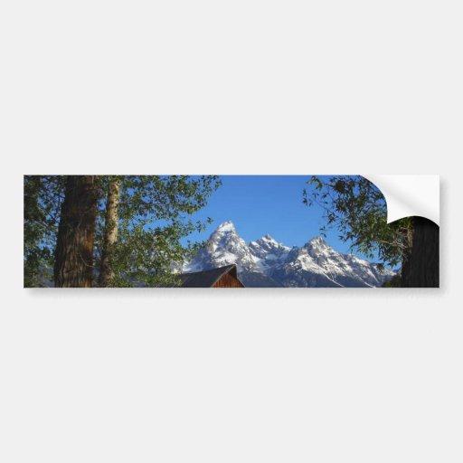 Mormon Row Barns In Grand Teton Park Bumper Stickers