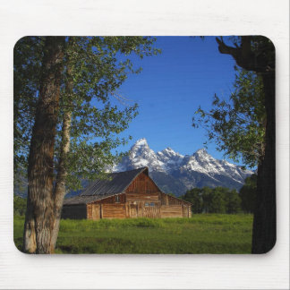 Mormon Row Barns In Grand Teton Park Mouse Mat