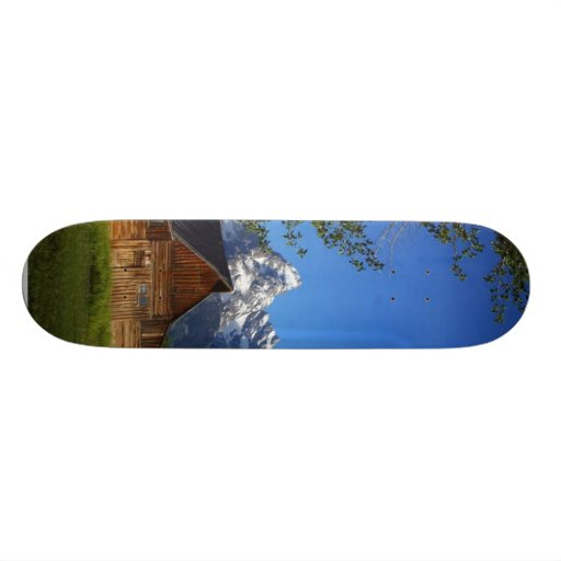 Mormon Row Barns In Grand Teton Park Skate Board Deck