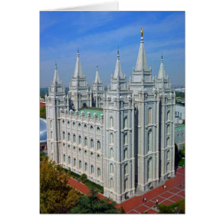 Mormon Temple Card