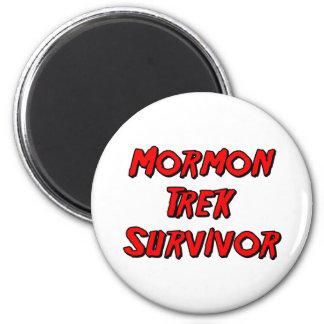 Mormon Trek Survivor 6 Cm Round Magnet