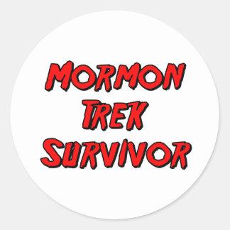 Mormon Trek Survivor Round Sticker