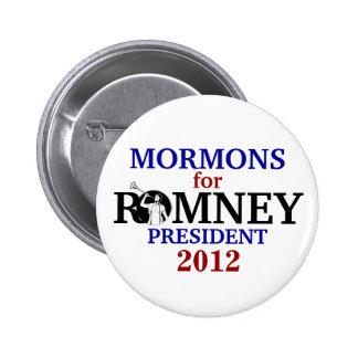 Mormons for Romney 2012 6 Cm Round Badge
