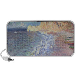 Morning at Etretat, 1883 (oil on canvas) iPhone Speakers
