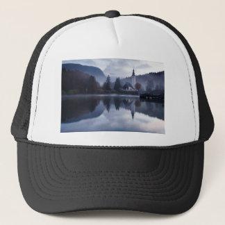 Morning at Lake Bohinj in Slovenia Trucker Hat